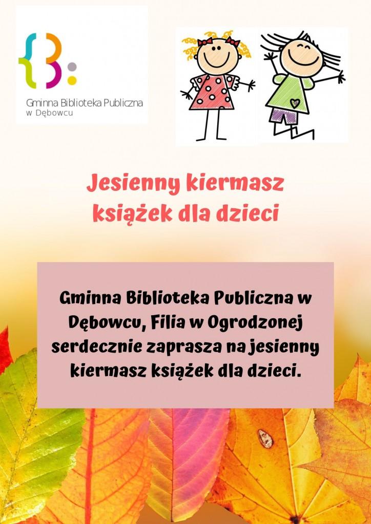 Jesienny kiermasz książek dla dzieci